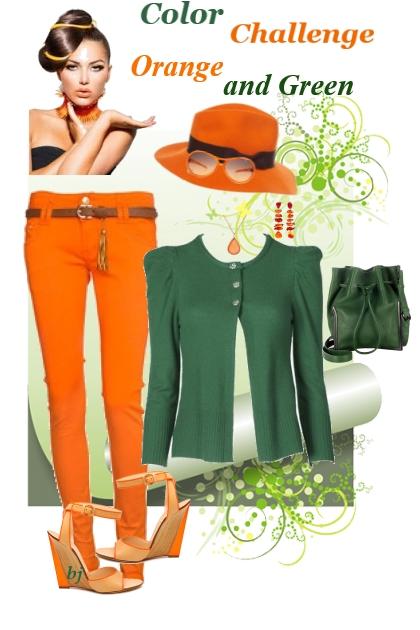 Color Challenge--Orange and Green