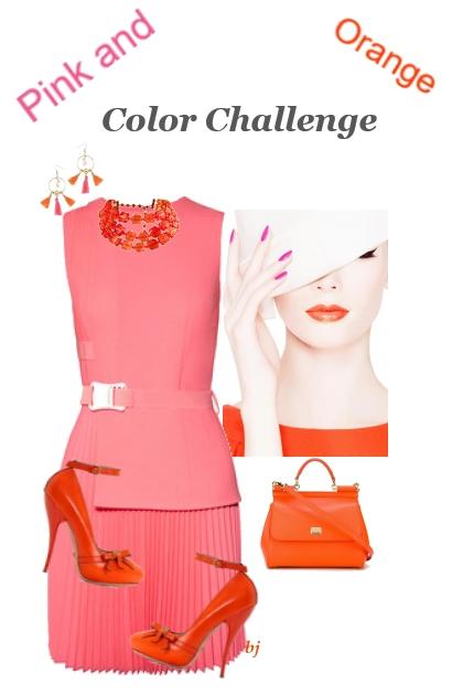 Color Challenge--Pink and Orange