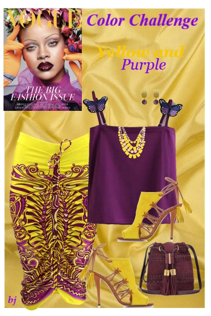Color Challenge--Yellow and Purple