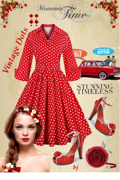 Red Vintage Dots