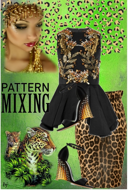 Pattern Mixing with Animal Print
