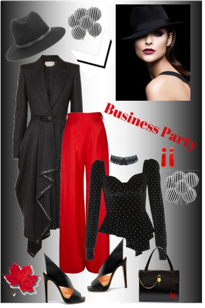 Business Party in Black and Red