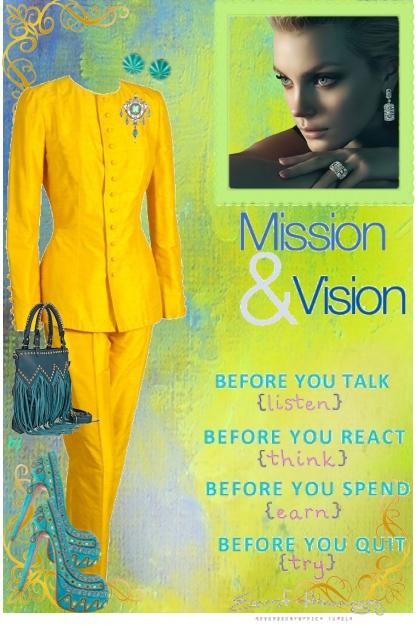 Mission and Vision- Combinazione di moda