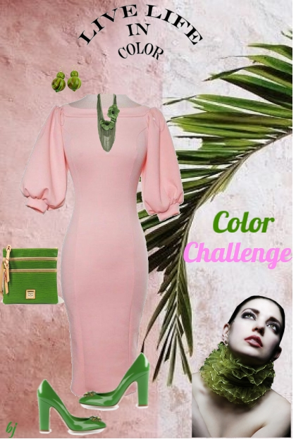 Color Challenge--Pink and Green