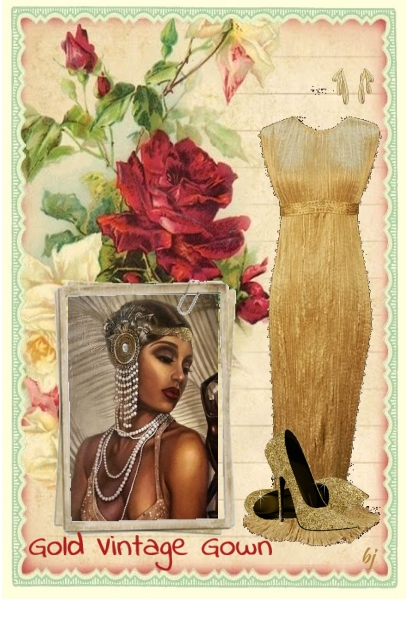 Gold Vintage Gown