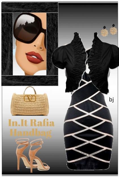 In.It Rafia Handbag