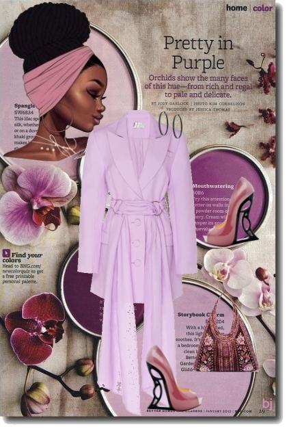 Lavender Blazer Dress