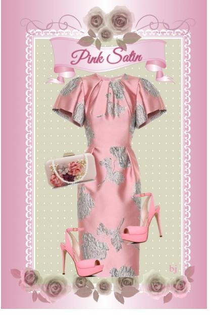Pink Satin- Fashion set