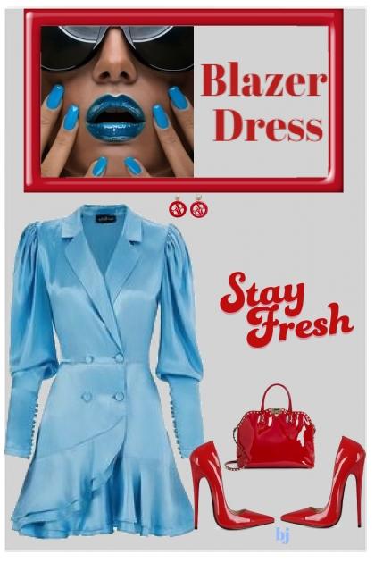 Blue Blazer Dress