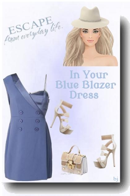 Off Shoulder Blazer Dress