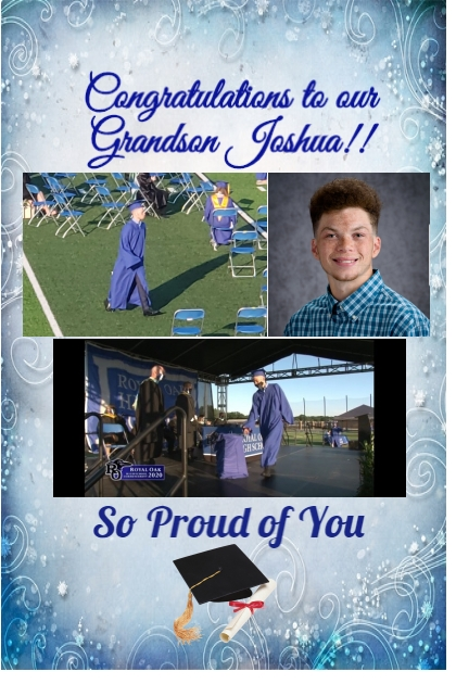 Congratulations Joshua!!