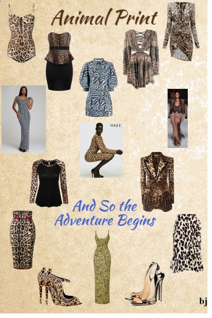 Animal Print--The Adventure Begins