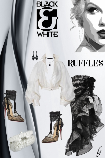 Ruffles in Black and White