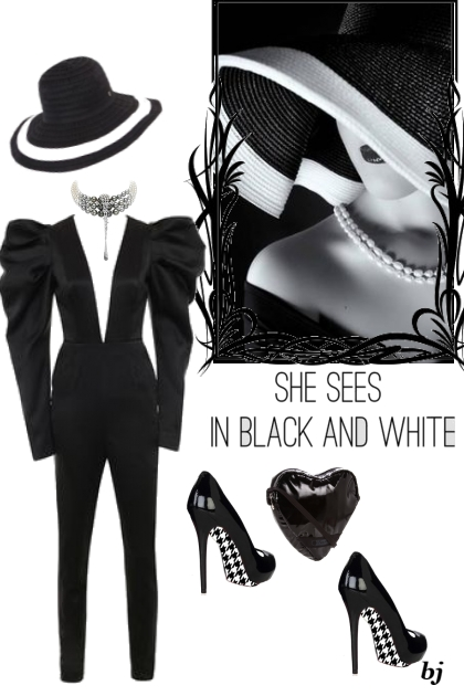 She Sees In Black and White