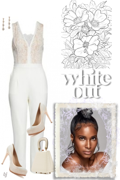 Jumpsuit White Out- Fashion set