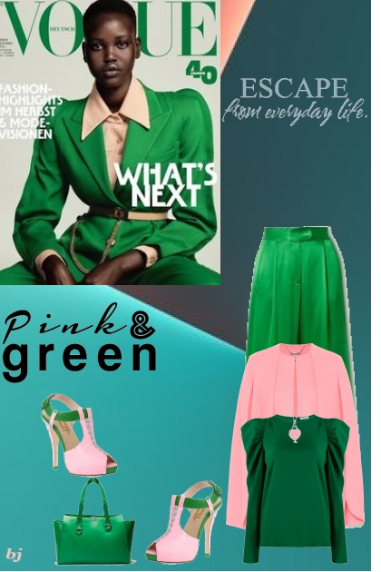 Escape From Everyday Life-Pink and Green