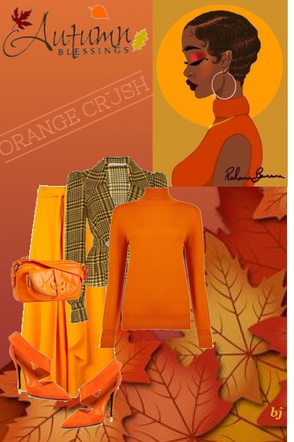 Autumn Blessings-Orange Crush