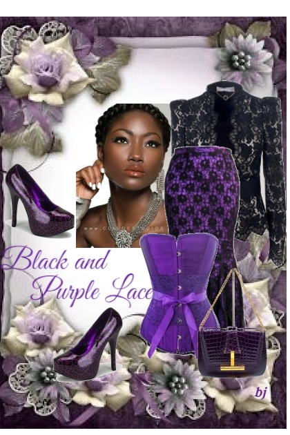 Black and Purple Lace