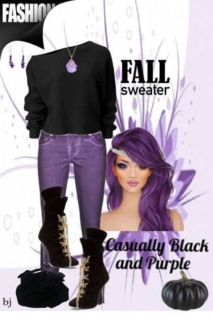Casually Black and Purple
