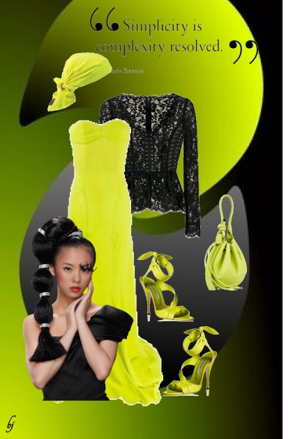 Glamourous Lime and Black