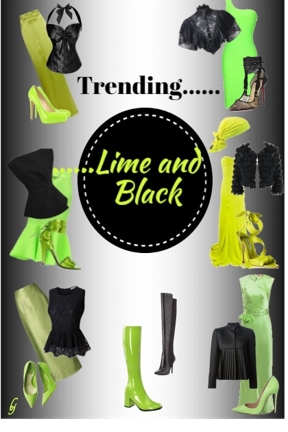Trending......Lime and Black