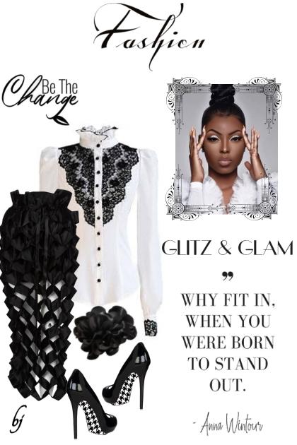 Glitz and Glam- combinação de moda