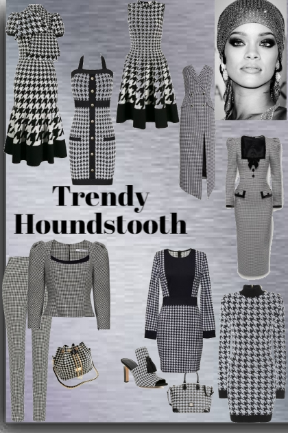 Trendy Houndstooth- Modekombination