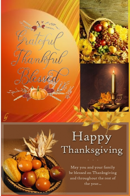 Have a Wonderful, Blessed Thanksgiving!!