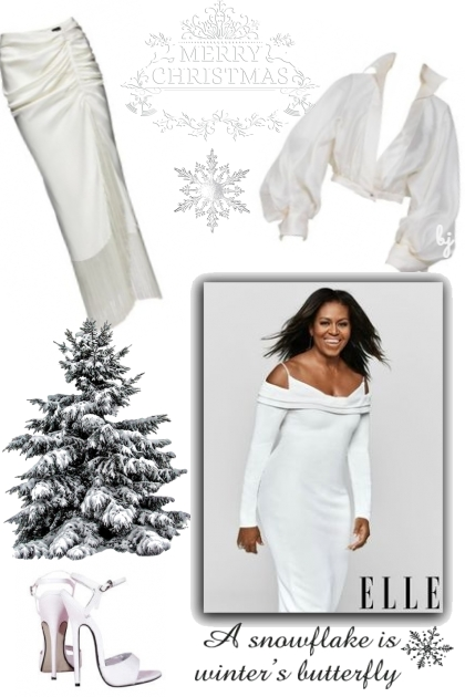 Merry Christmas in White