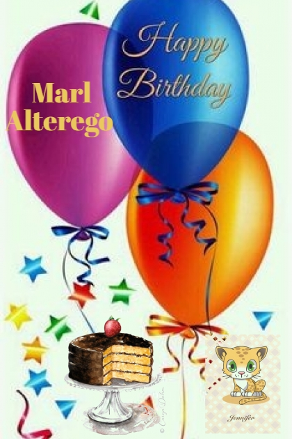 Happy Birthday Marl Alterego!!