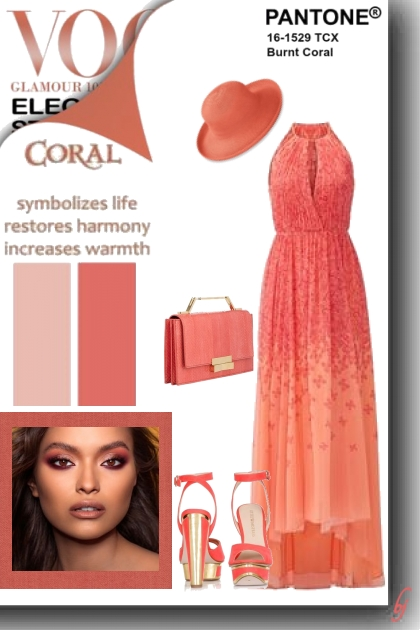 Pantone Color-Burnt Coral