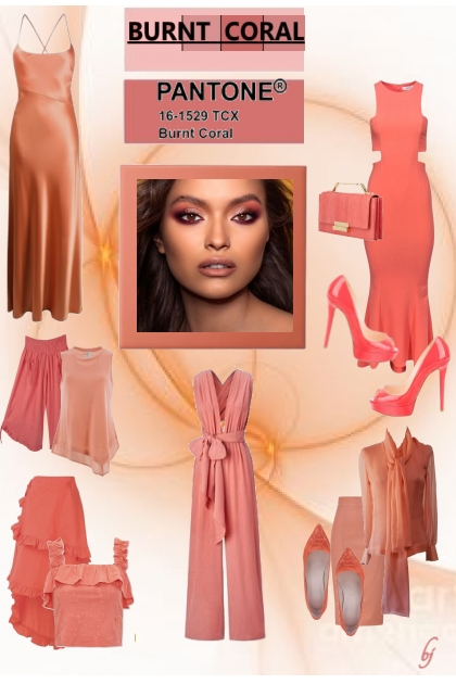 Pantone Color--Burnt Coral