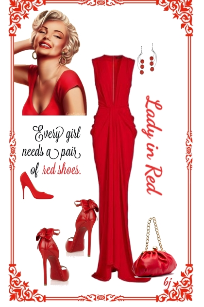 Statement Bag and Earrings in Red