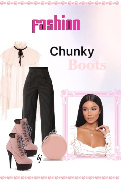 Fashion Chunky Boots