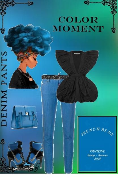 Color Moment--Denim Pants