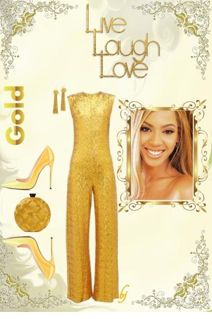 Live, Laugh, Love-Gold