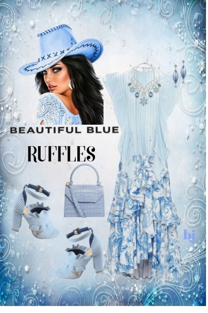 Beautiful Blue Ruffles