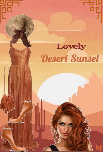 Lovely Desert Sunset