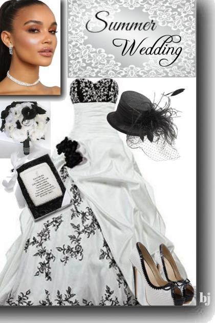 Black-White Summer Wedding