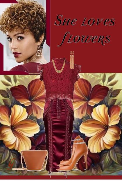 She Loves Flowers....