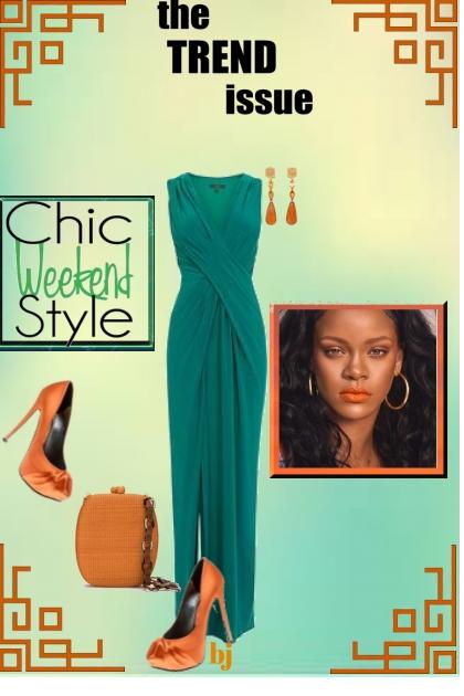 The Trend Issue...Chic Weekend Style- combinação de moda