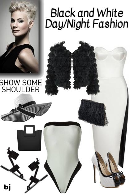 Black and White Day-Night Fashion