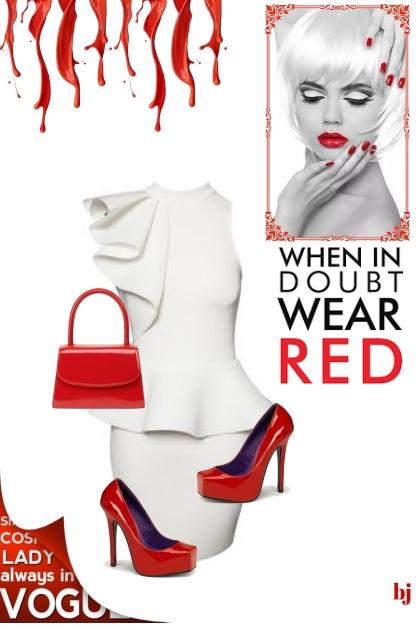 Accessorize in Red- combinação de moda