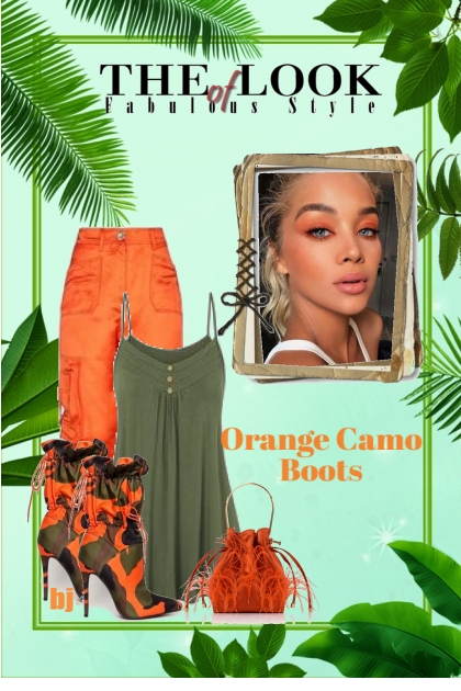 Orange Camo Boots