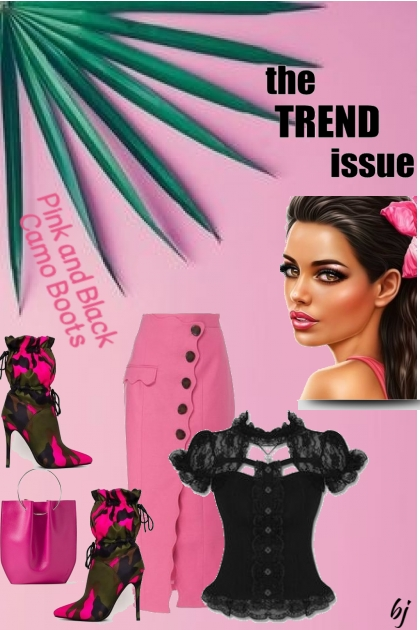 The Trend Issue--Pink and Black Camo Boots