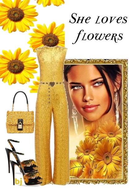 She Loves Yellow Flowers