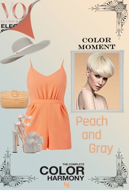 Color Moment--Peach and Gray