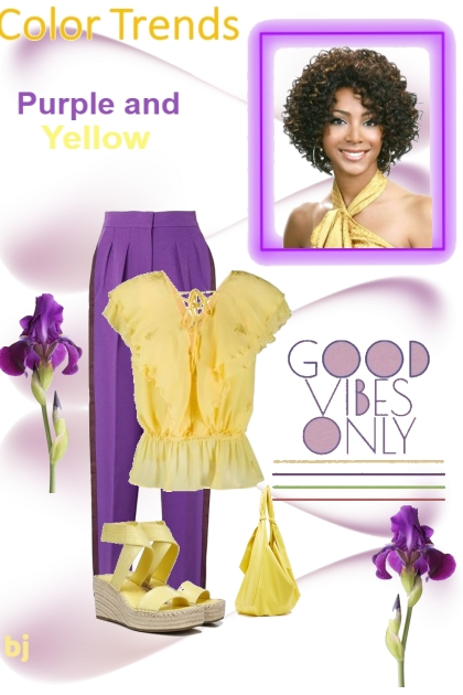 Purple and Yellow Color Challenge