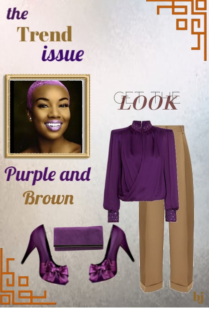 The Trend Issue--Purple and Brown