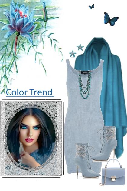 Blue for Fall- combinação de moda